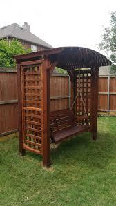 japanese pergola swing bench arbor swing bench garden swing
