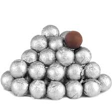 silver foiled milk chocolate balls foiled milk chocolate balls
