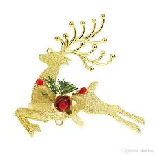12 12cm golden reindeer christmas tree bauble hanging ornament