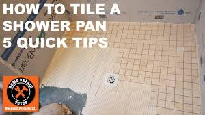 how to tile a shower pan quick tips by home repair tutor