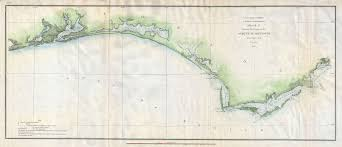Florida Coast Map File 1853 U S Coast Survey Map Of The Western Florida Panhandle