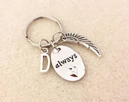 remembrance keychain memorial key chain etsy