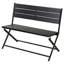 Outdoor Table And Bench Seats Faux Wood Patio Furniture Target