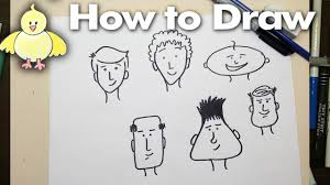 drawing how to draw easy cartoon faces step by step youtube