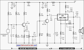 condenser mic audio amplifier the circuit