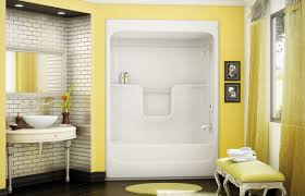 two piece tub shower 2 piece right handaquatic 60 in x 30 in x 72 bath and shower combination unit 1 piece shower tub combo surplus warehouse decora maax walls bath100