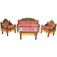 traditional sofa set pakistani colorful couch set antique style