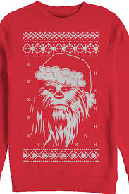 faux chewie claus wars sweater