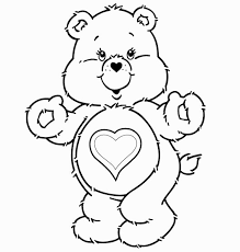 pleasant design care bear outline outlet coloring pages