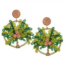 suzanna dai earrings palma hoop earrings green gold suzanna dai jewelry