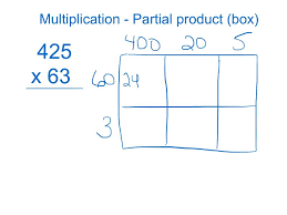 multiplying partial product box method youtube