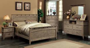 Furniture Of America Bedroom Sets Cm7351 Loxley Bedroom In Weathered Oak W Options