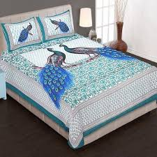 king size bed sheet with 2 pillow covers 100 cotton at rs
