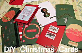 christmas crafts making your own christmas cards toomanymuffins