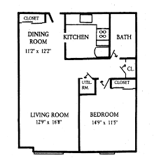 1 Bedroom Apartment Floor Plans by Cute 1 Bedroom 1 Bath House Floor Plans And Mw Bd 940x940