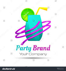 colorful party cocktail icon concept bar stock vector 486902374