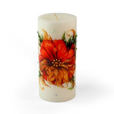 decorative flower decorative luxury flower candle passion flower from home decor