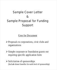 sample proposal cover letter proposal cover letter sample