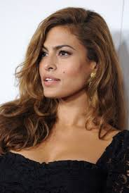 a side part with long hair and a swoop and a cross eva mendes glamorous long side part hairstyle for long hair