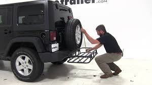cargo rack for jeep review of the curt 17x46 hitch cargo carrier on a 2014 jeep