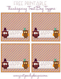 treat bag thanksgiving labels happy thanksgiving