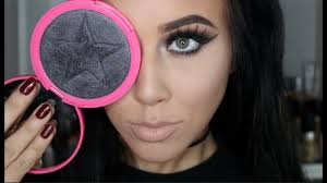 onyx ice skinfrost from jeffree star black highlighter demo of