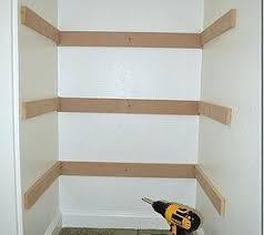 closet shelf storage depth and rod support bracket