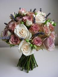 Flowers Near Me - vinatge look handtie of dusky pink lilac roses with cream and
