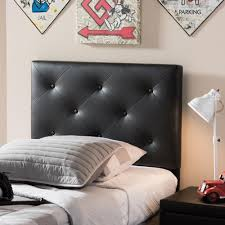 Black Upholstered Headboard Queen by Home Decorators Collection Tivoli Black Queen Headboard 542pblk
