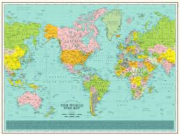 Large World Map Poster by Every Single Name On This Entrancing Map Is A Music Reference Wired