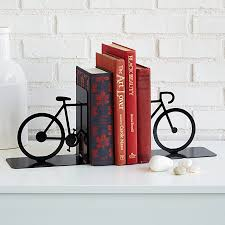 Unique Book Ends Bicycle Bookends Book End Bike Decor Uncommongoods