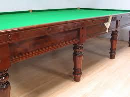 Antique Brunswick Pool Tables by Elegant Mahogany Antique Billiard Or Snooker Pool Table Circa