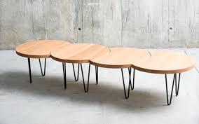 Modular Coffee Table Contemporary Coffee Table Metal Oak Beech Oruga Qowood