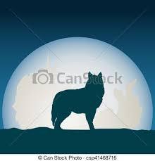 moon clipart devant moon loup détaillé silhouette moon clipart