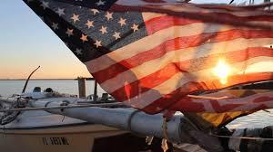 American Flag Sunset American Flag In Sunset Abourd Lil U0027 Eva U0027s Images Inlet Marina