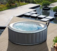 mspa silver cloud inflatable tub and bubble spa gadget flow