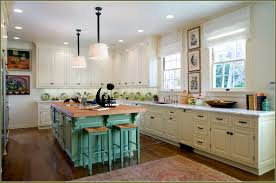 Antiqued Kitchen Cabinets by Distressed Turquoise Kitchen Cabinets Roselawnlutheran