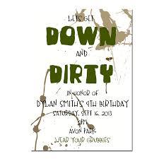 dirty party invitation boy u0027s birthday invitation digial file