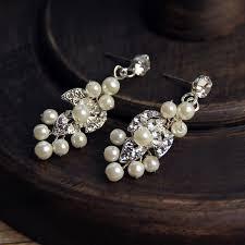 rhinestone necklace earrings images Generous silver rhinestone jewelry set necklace earrings handmade jpg