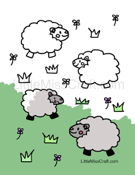 crafts sheep coloring