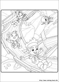land pirates coloring picture