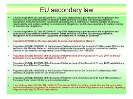 Council Regulation Ec No 44 2001 Brussels International In The European Union Area Of Freedom