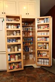 country kitchen ideas with shelves over food pantry door storage