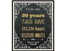 20 year wedding anniversary gifts cheers to 20 years etsy