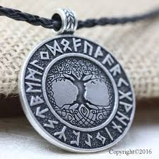 10pcs norse vikings runes amulet pendant necklace the tree of