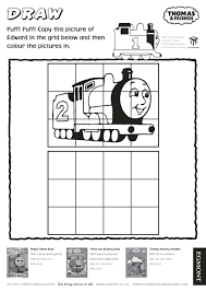 grid drawing thomas tank engine activity book ideas