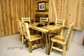 Log Dining Room Table Mesmerizing Log Dining Room Tables Pictures Best Ideas Exterior