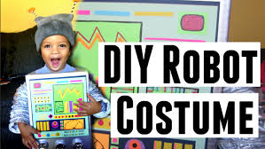 diy retro robot costume idea toddler and kids halloween
