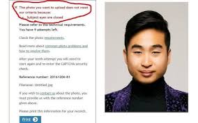Asian Guy Meme Face - robot passport checker rejects asian man s photo for having his eyes