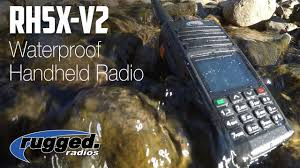 Rugged Ham Radio Rugged Radios Rh5x V2 Waterproof Vhf Uhf Handheled 2 Way Radio